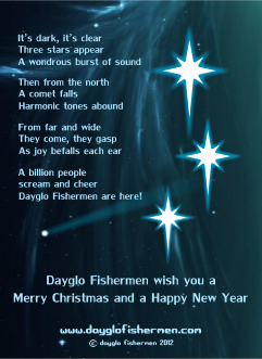 Dayglo Fishermen - Christmas Card Inside Greeting 2012