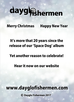 Dayglo Fishermen - Christmas Card Inside Greeting 2017