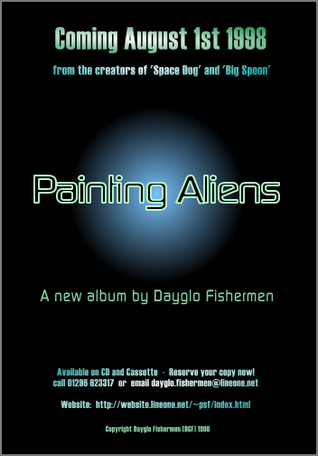 Painting Aliens pre-launch publicity