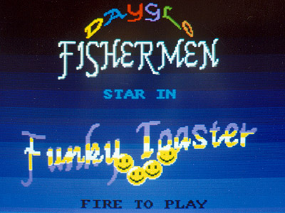 Funky Toaster video game - title screen