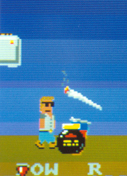 Funky Toaster video game - Rastamaster siezes a rare opportunity, and heads for the ultra mellow reefer