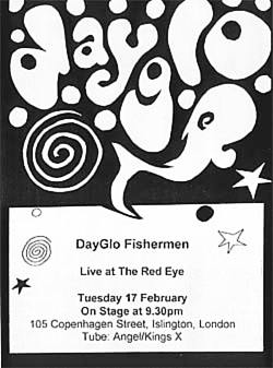 Concert poster - Redeye, Islington, London 1998