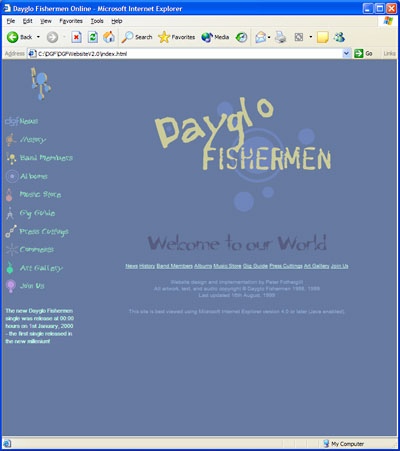 Dayglo Fishermen Homepage, November 1998 - November 1999