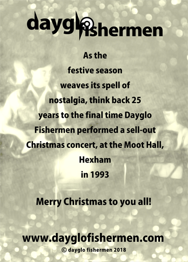 Dayglo Fishermen Christmas Card - Inside Greeting -2018