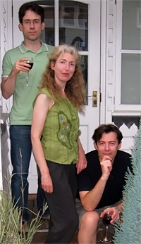 Peter Fothergill, Ginny Owens and Richard Burton take a break from recording - July 2009